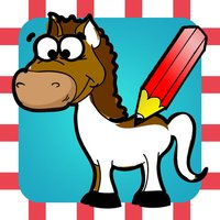 A Coloring Book of Horses for Children: Learn to draw and color pony, horse riding, equestrian and more