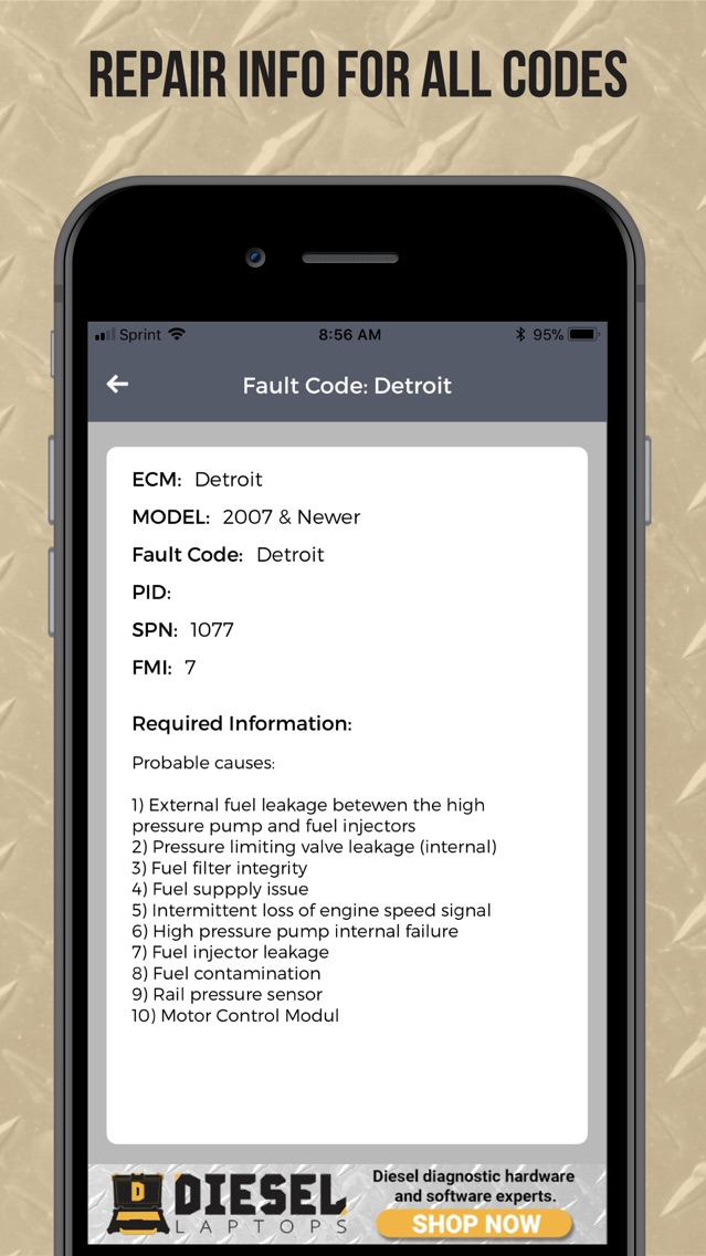 TruckFaultCodes App for iPhone - Free Download
