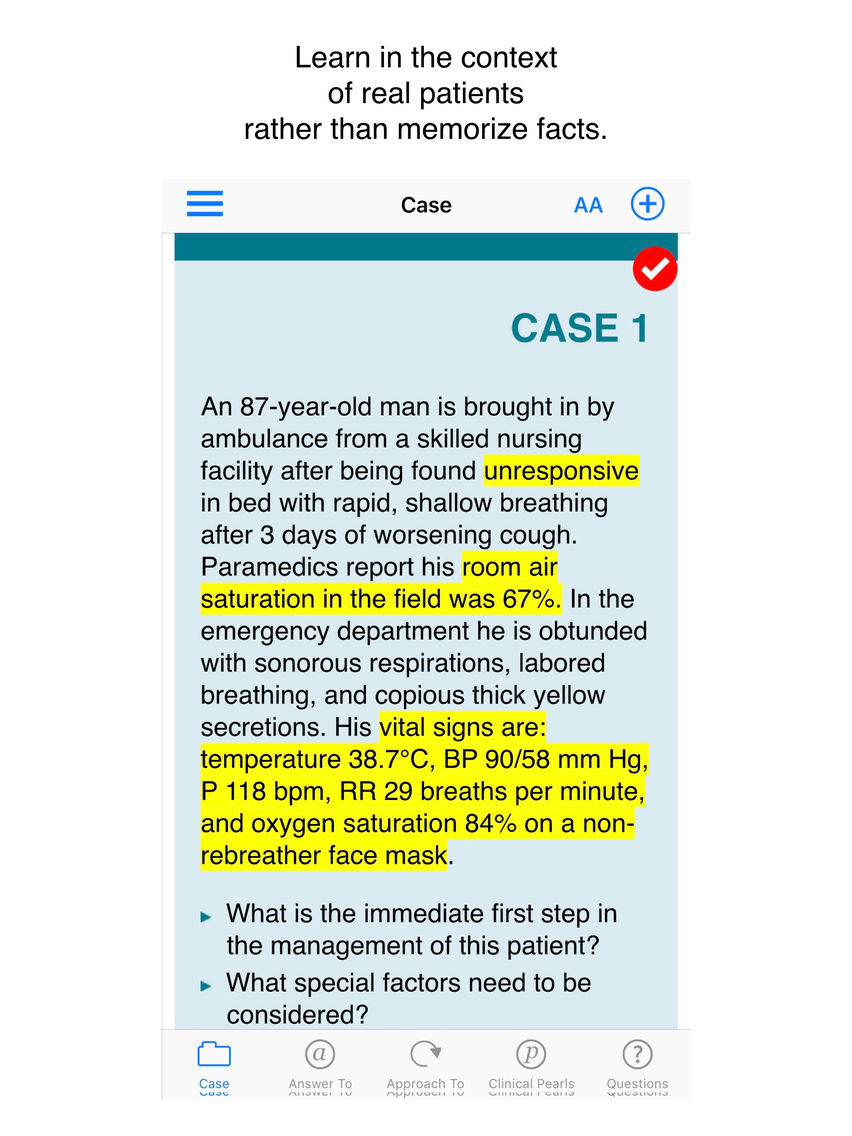 Emergency Medicine Case Files App for iPhone - Free Download
