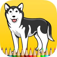 The Puppy Coloring Book: Learn to color and draw a puppy siberian and more, Free games for children