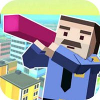 Block Man run City 3D