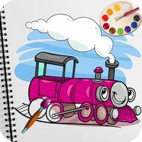 Train Coloring Book Games