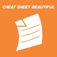 Cheat Sheet Beautiful
