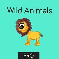 Wild Animals Flashcard for babies and preschoo Pro
