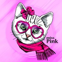 Cute Cat Pink Stickers Pack for iMessage