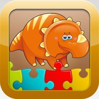 Dinosaur Games for kids - Cute Dino Train Jigsaw Puzzles for Preschool and Toddlers