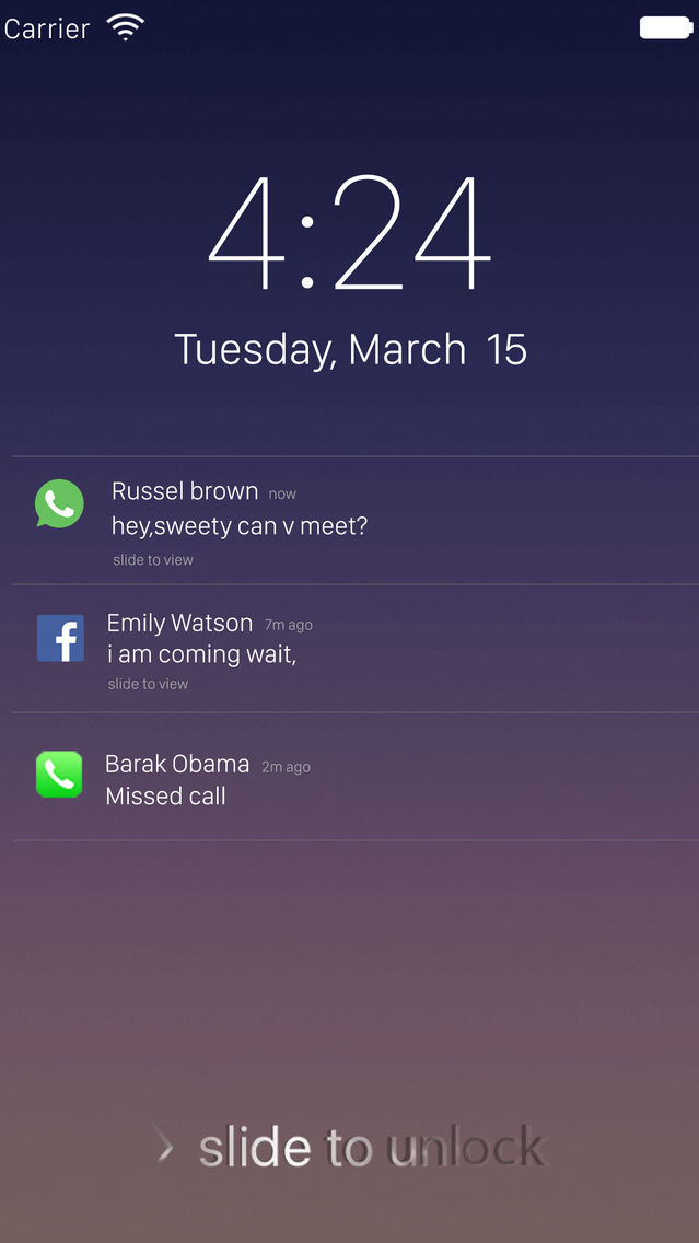 Fake Message - Fake Lock Screen Messages App for iPhone