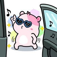 Kiki Hamster Stickers