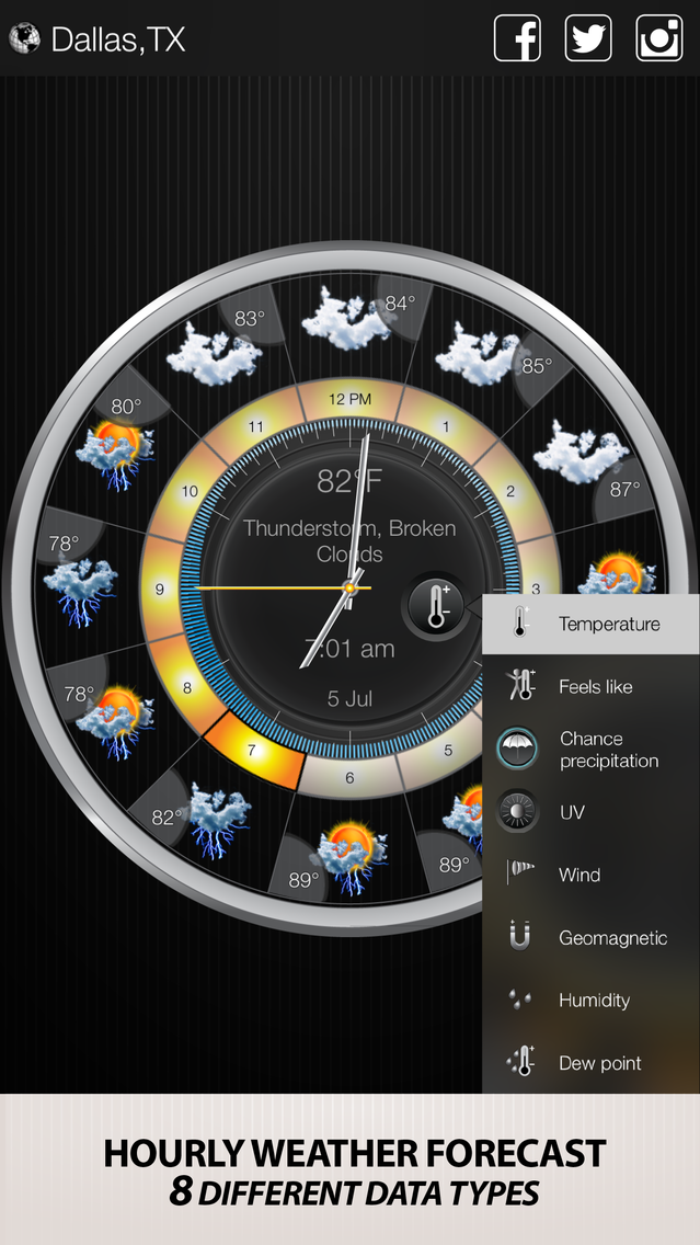 Weather Clock Widget App for iPhone - Free Download Weather Clock