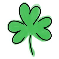 St Patricks Day, clover text stickers for iMessage