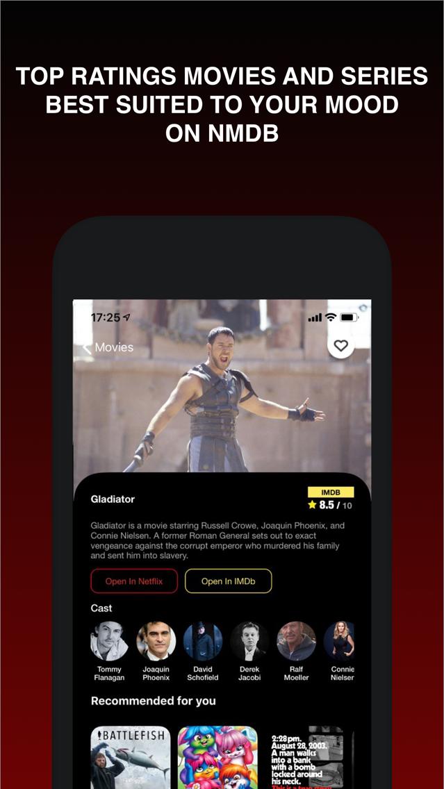 NMDB - Netflix & IMDb Ratings App for iPhone - Free Download
