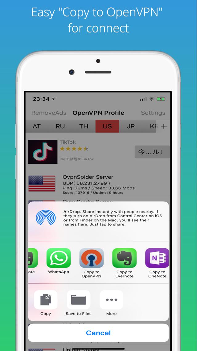 Best VPN Proxy OvpnSpider App for iPhone - Free Download