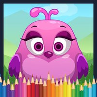 Bird Coloring Book - cartoon color pages game
