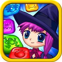 Halloween Witch Match 3 Jewels