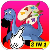 Drawings Coloring Page Puzzle Dinosaurs For Kids