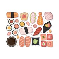 Japanese Food Sketch Stickers