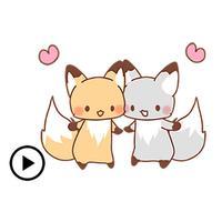 Animated Cute Fox Sticker