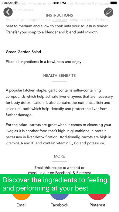 3 Day Cleanse - High Raw Food Meal Plan App for iPhone