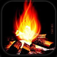 癒しの焚火/深呼吸で火をつける