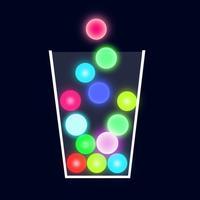100 Neon Balls - Free Color Drop Physics Game