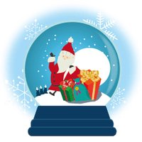 Snow Globe Christmas Sticker