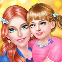 Mom & Baby Daughter Makeover - Family Party Salon