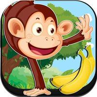 猴子吃香蕉狂奔花果山闯关游戏!