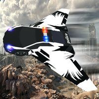 Flying Police Muscle Car : Air Thief Catcher