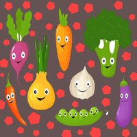 Vegetables Name Learning Card