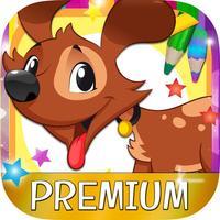 Coloring book paint dogs puppies educational games children - Premium