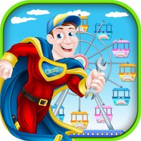 Circus Carnival Hero Rescue game - Call 911 and rebuild the amusement park with super heroes