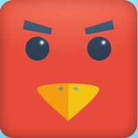 Color Red Geometry Bird Square Blok Jump Dash Spikes