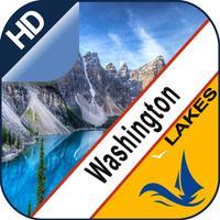 Washington Lakes gps offline nautical chart