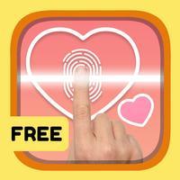 Love scanner: Personal Valentine fingerprint cards