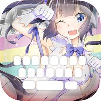 """Custom Keyboard Cartoon Anime Manga : Color & Wallpaper Themes """"Is It Wrong to Try to Pick Up Girls in a Dungeon"""" style"""