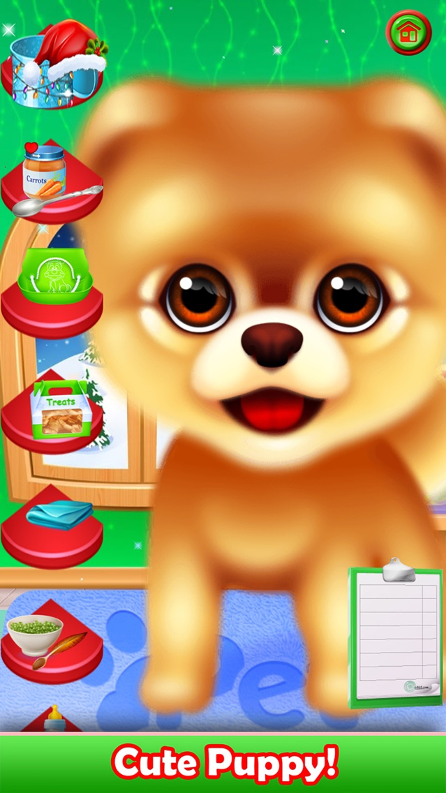 Pet Puppy Nursery Time For Iphone