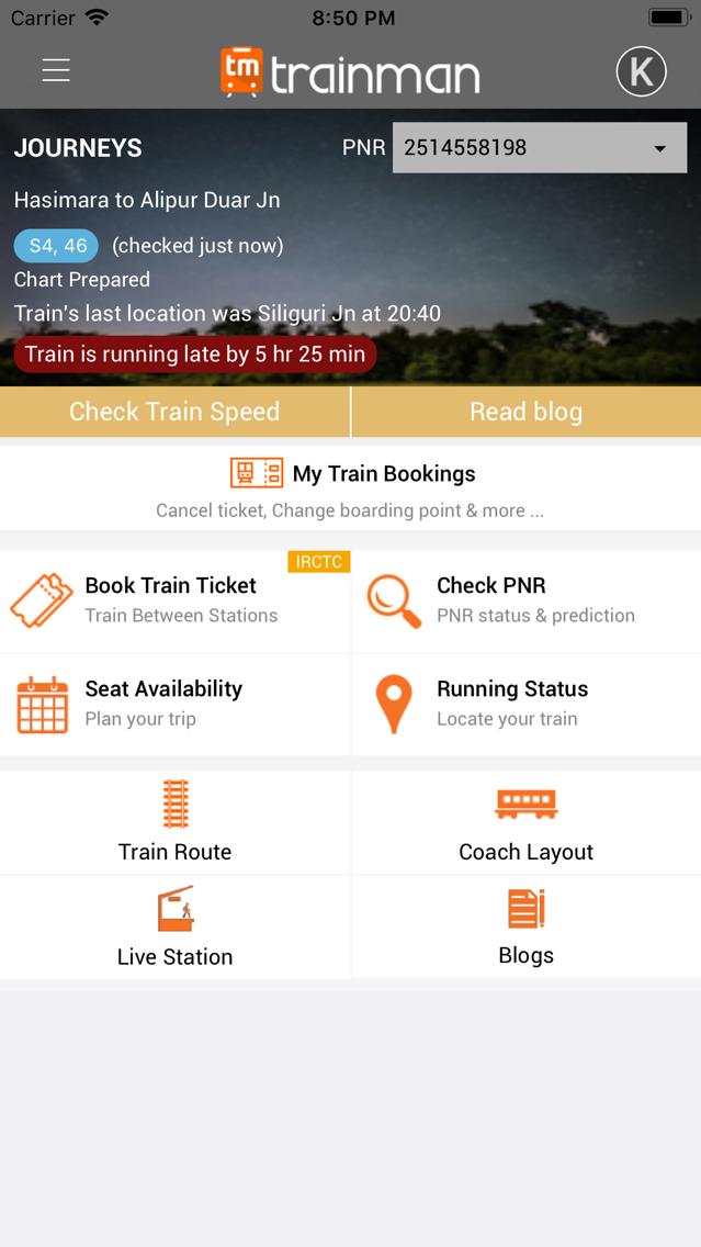Trainman PNR Status Prediction App for iPhone - Free