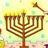 Jewish Puzzles - Hanukkah, Fun Free Tile Switch Jigsaw Games