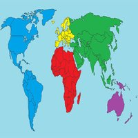 Blank world map quiz : Countries geograpy trivia
