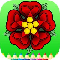 Coloring Book Folwer, Tree: Learn to draw & Paint