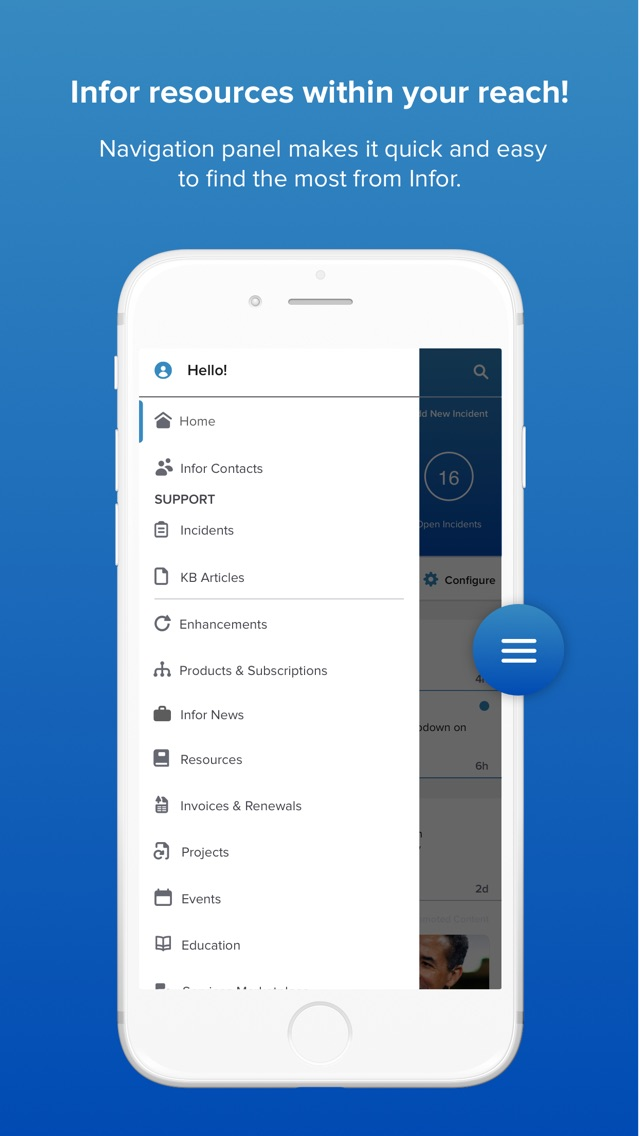 Infor Concierge App for iPhone - Free Download Infor