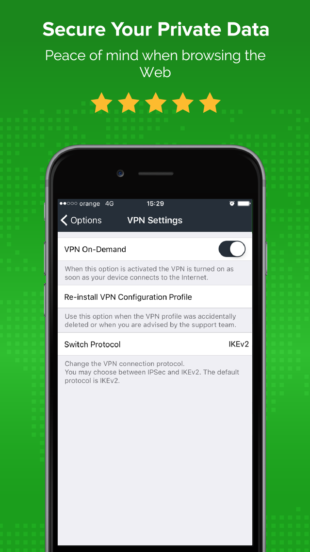 VPN for Wifi Security by ibVPN App for iPhone - Free