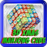 3D Christmas Mahjong Cube