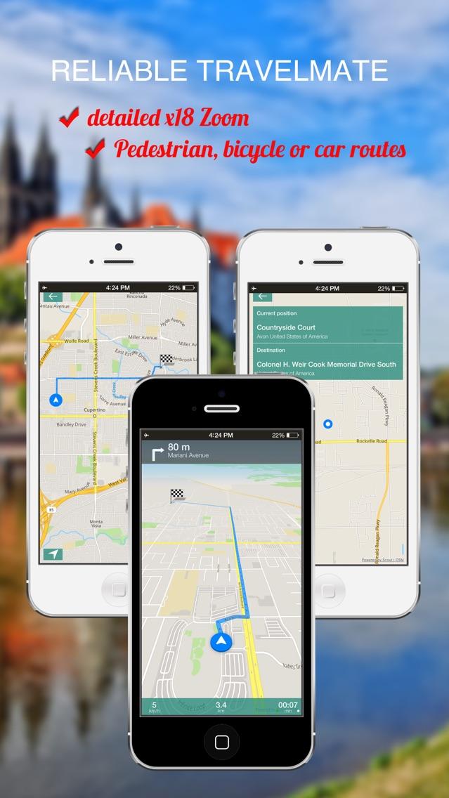 Riga, Latvia : Offline GPS Navigation App for iPhone - Free