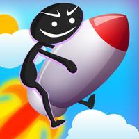 Stick-Man Jump: Super Fight Jumper Trampoline War Adventure Game 2