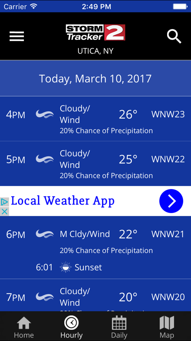 WKTV - StormTracker 2 Weather App for iPhone - Free Download