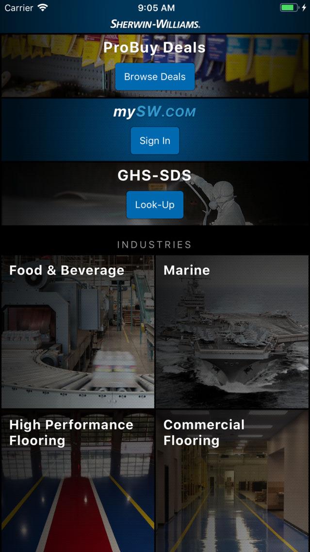Sherwin-Williams P&M App for iPhone - Free Download Sherwin