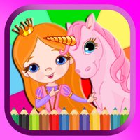 Pony And Princess Coloring Book Paint & Draw Games