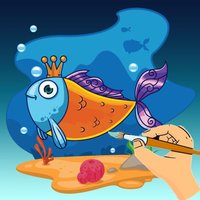 Sea Animals Coloring -  All In 1 Cute Animal Draw Book, Paint And Color Pages Games For Kids