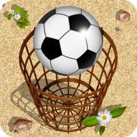 Ball and basket. Ball and wall